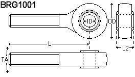 image of Rod-End Bearings For Captive-Guided Position Transducers