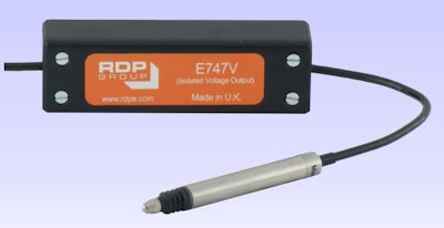 image of E747V In-Line Signal Conditioning Amplifiers . <BR> Supply 24V, Output 0 to 10V (isolated).